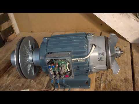 Электродвигатель  1 1 киловата тормоз и вариатор   Немец