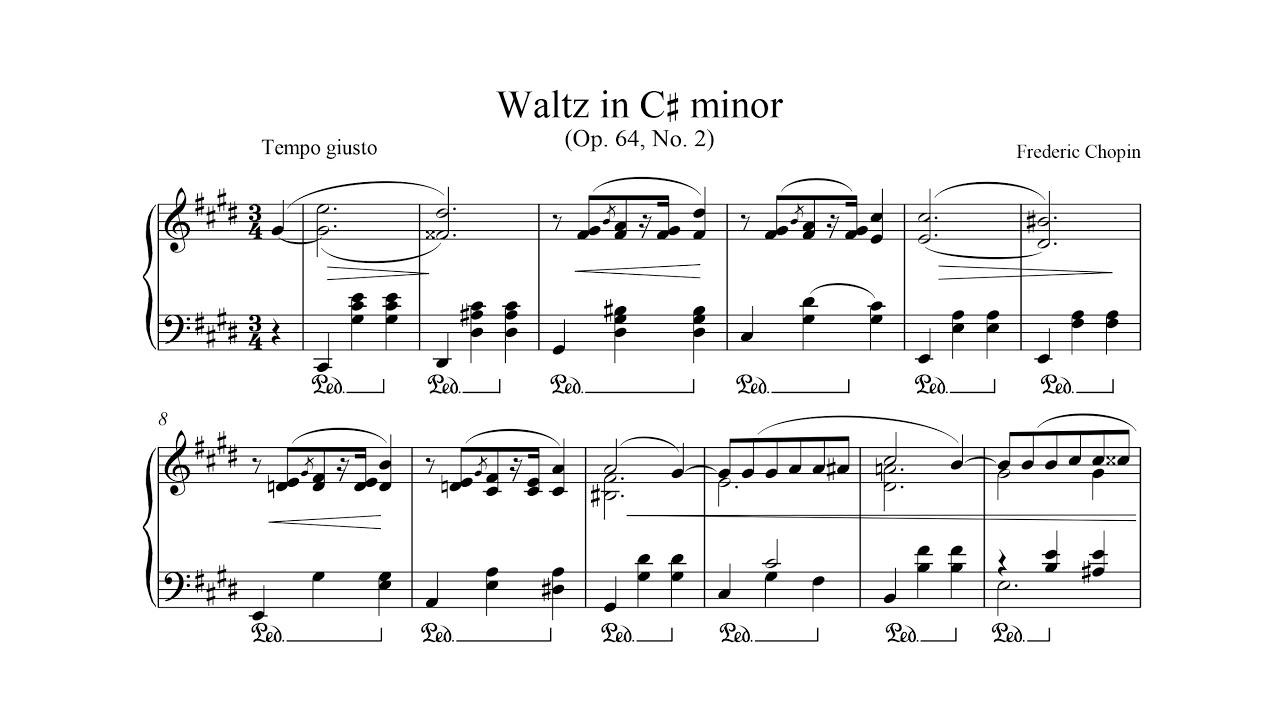 Frederic Chopin Waltz In C Minor Op 64 No 2 Sheet Music