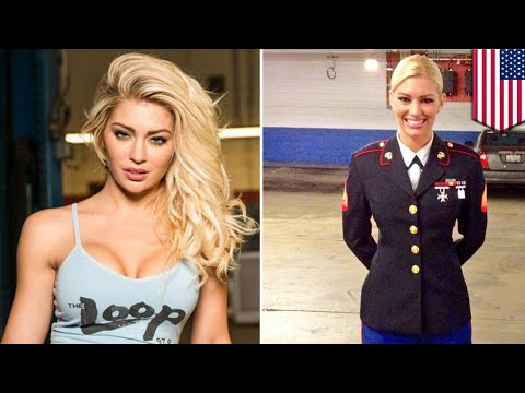 Female Marine changes career to become a super hot lingerie