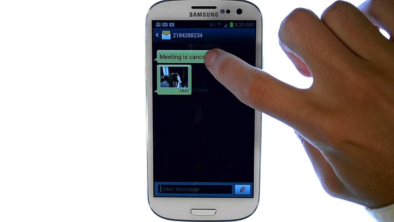 how to close text messages on samsung