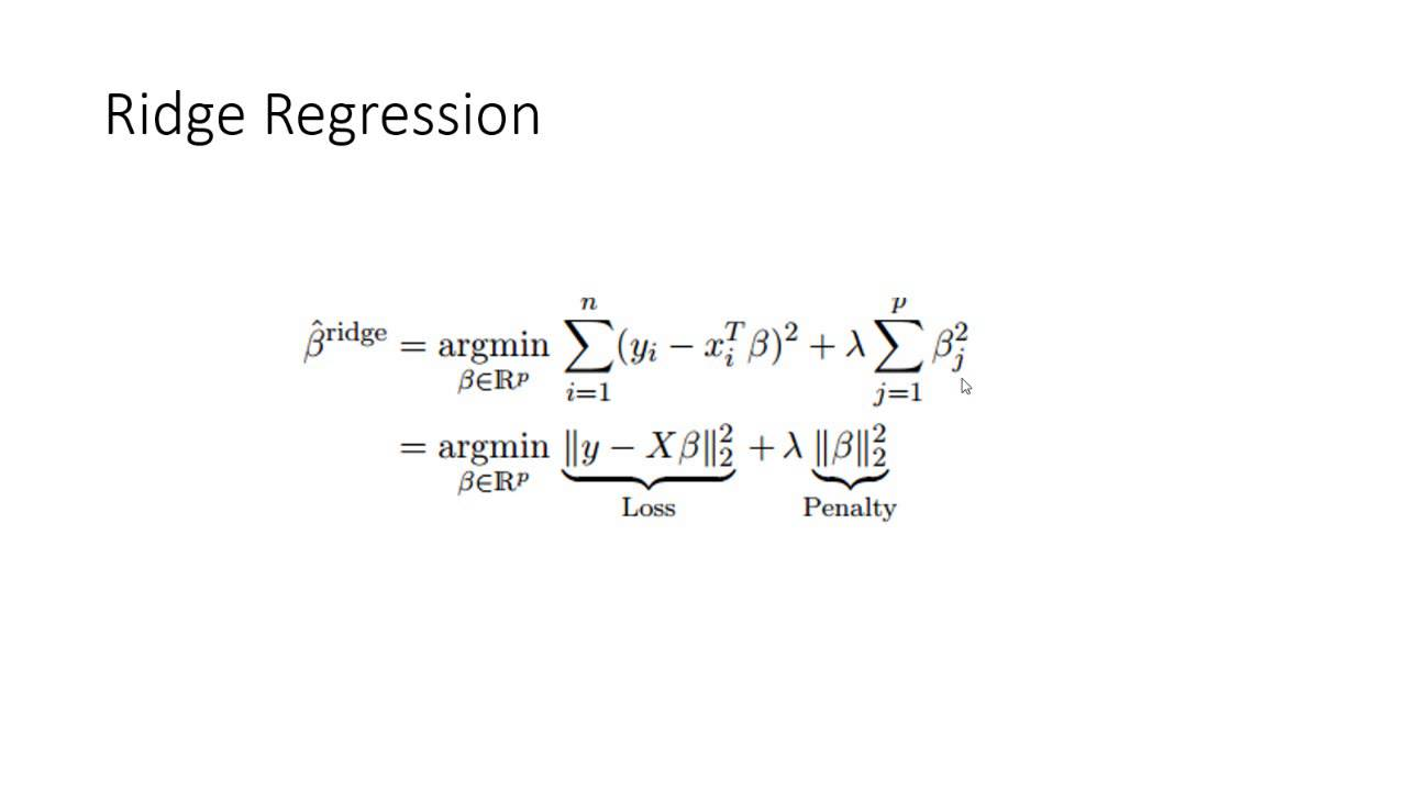 39 - Ridge Regression