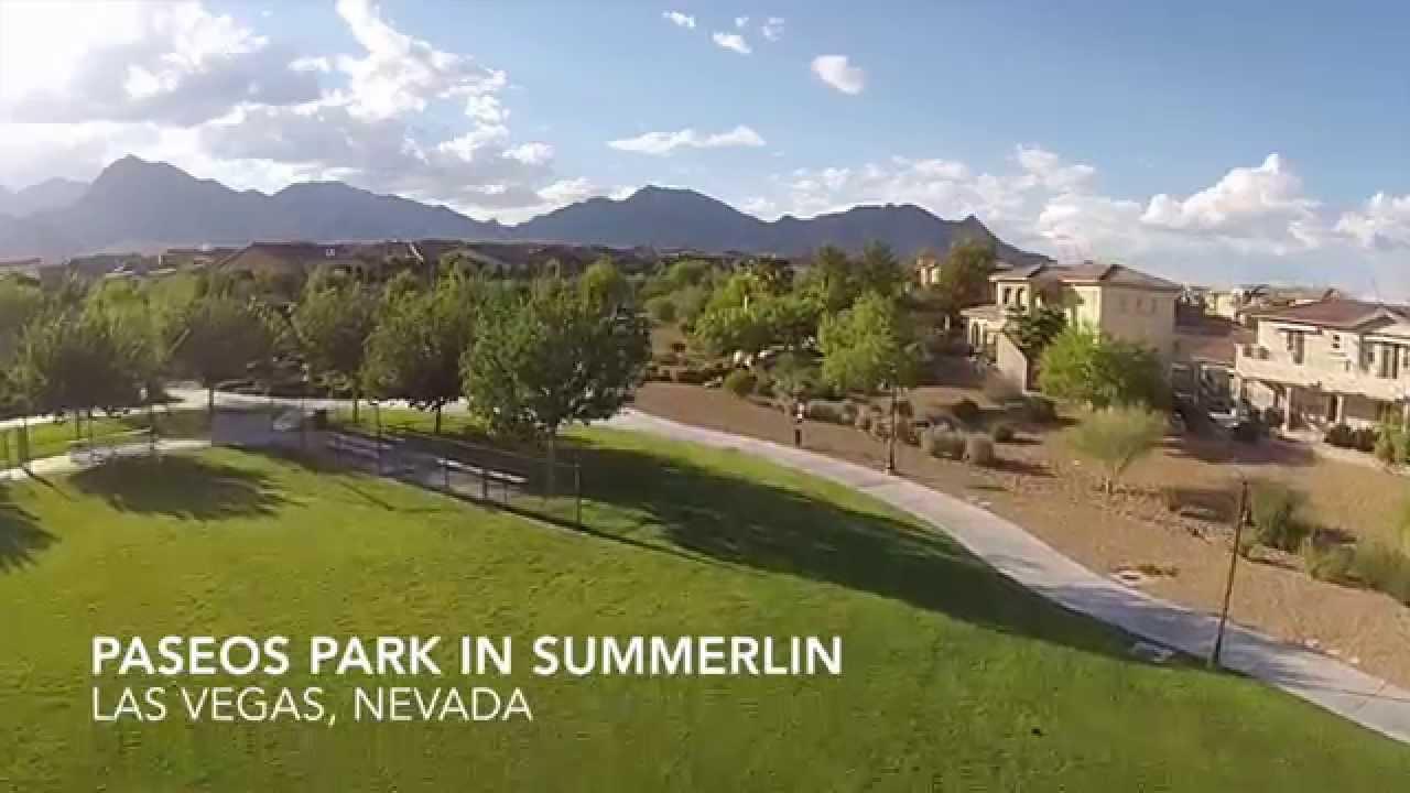 Paseos Park In Summerlin Las Vegas Nv Drone Flight