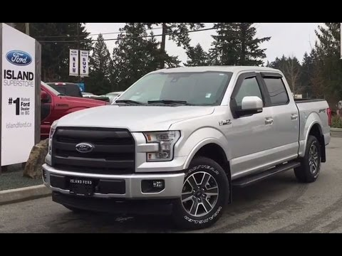 2017 ford f 150 lariat sport w 360 camera review island ford youtube. Black Bedroom Furniture Sets. Home Design Ideas