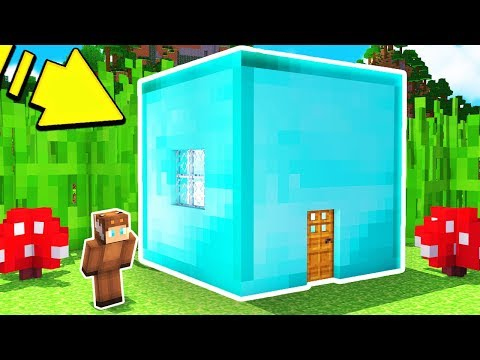 Thumbnail: HOW TO LIVE INSIDE A DIAMOND BLOCK IN MINECRAFT!