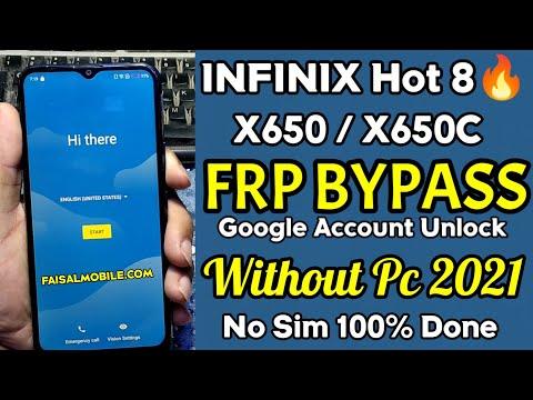 Infinix Hot 8 Google Account Bypass Without Pc 2021 || Infinix Hot 8  Frp Unlock