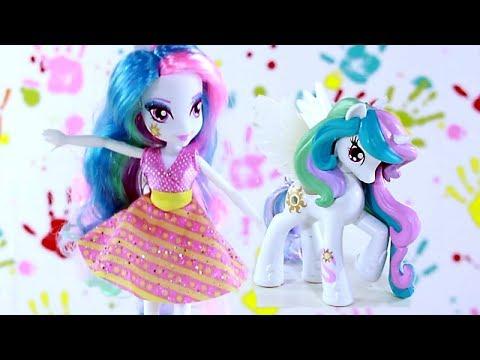 Celestia Doll & Pony Set / Celestia i Kucyk - Equestria Girls - My Little Pony - A3996 A5103