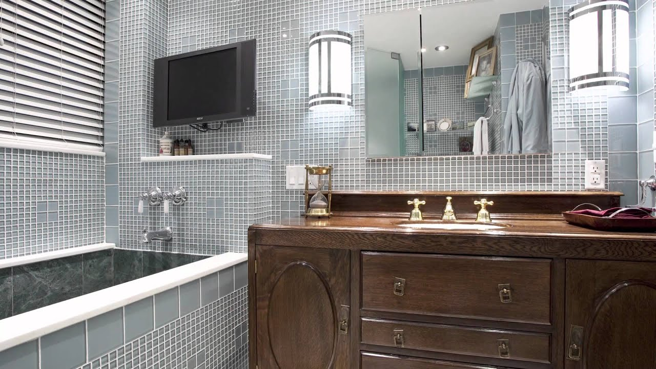 art deco bathroom light fixtures. Bathroom Remodel Incorporating Components Of Art Deco Style Through Use Tiles And Light Fixtures - YouTube T