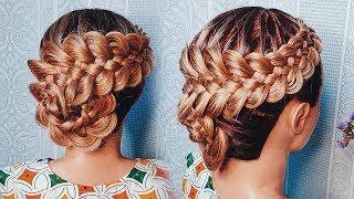 КОСА из 5 прядей ПОШАГОВО. Пятипрядная коса с подхватами. Five (5) Strand Braid Tutorial - How to