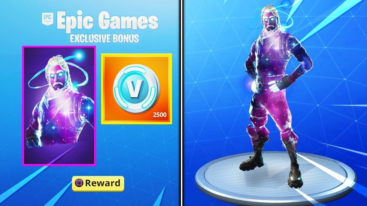 I got the galaxy skin for free in fortnite galaxy skin ps4 unlocked youtube - Fortnite galaxy skin free ...