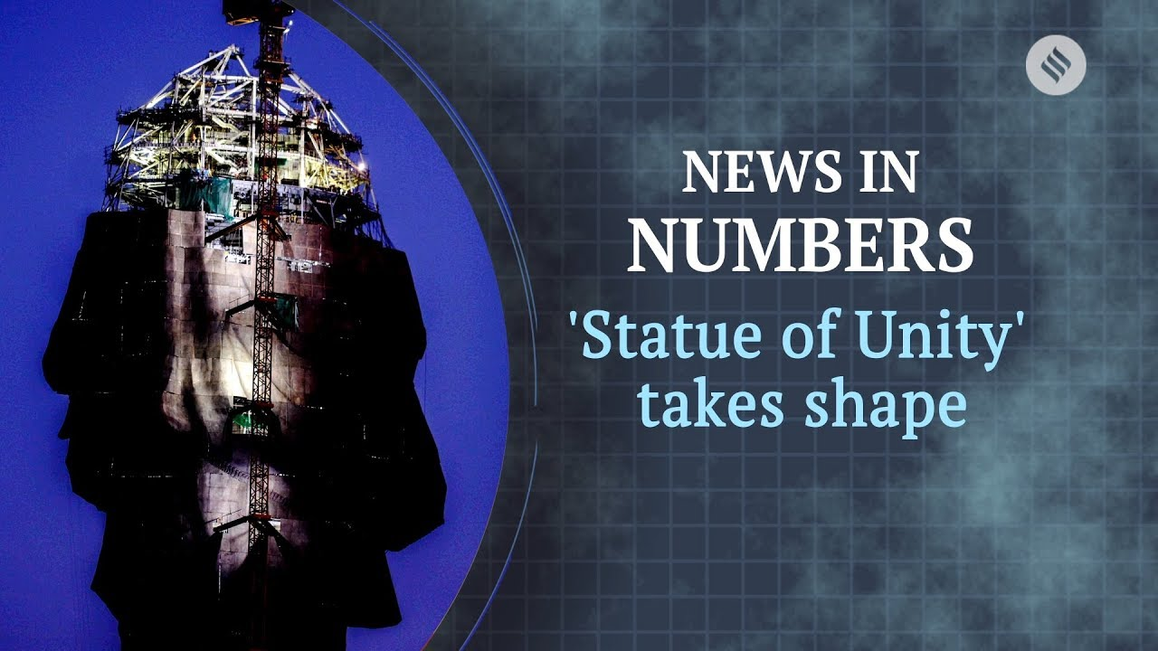 statue of unity from space