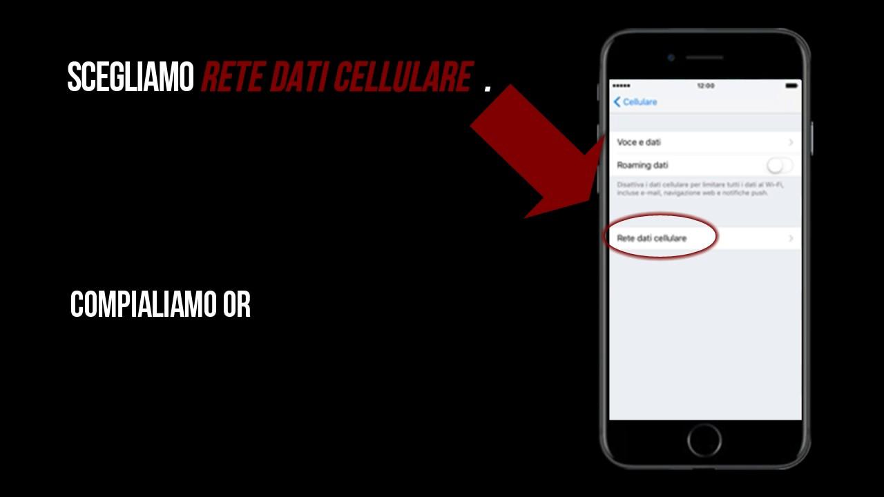 rete dati cellulare iphone postemobile