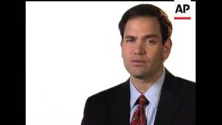 Sen.-elect Marco Rubio of Florida said in the Republican address that lawmakers owe it to the voters