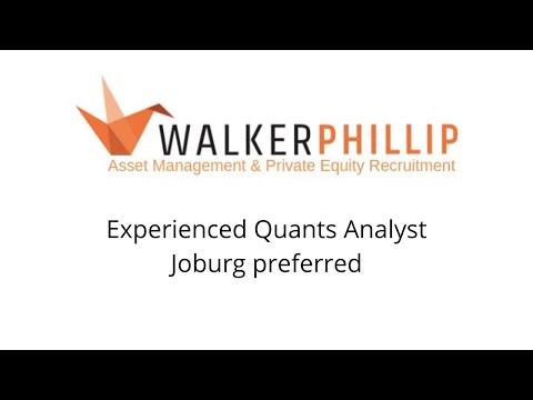 Quants Analyst (Equities) Asset Management