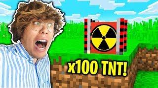Minecraft: KWADRATOWA MASAKRA vs SUPER TNT!