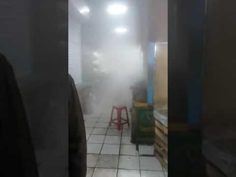 insiden kebakaran kecil di kios sayur di pasar depok jaya senin pagi