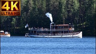 Putin visiting  FINLAND Steam Chip Cruise from Punkaharju to Savonlinna