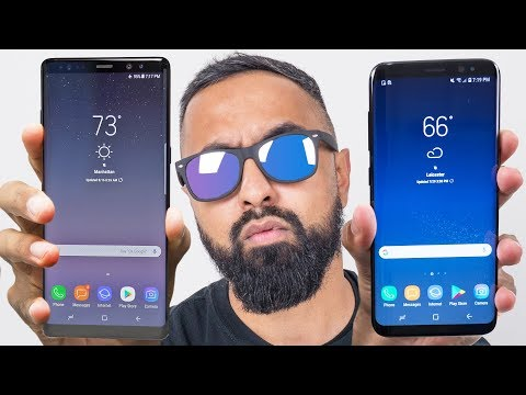 Samsung Galaxy Note 8 vs S8 Plus
