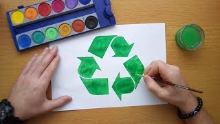 How to draw a Recycling Symbol