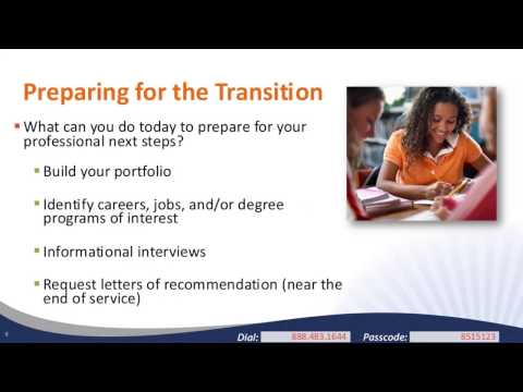 Translating VISTA Service to Resume and Career