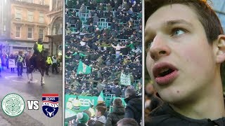CELTIC MARCHES And GREEN BRIGADE HUDDLE...  - Celtic Vs Ross County Vlog