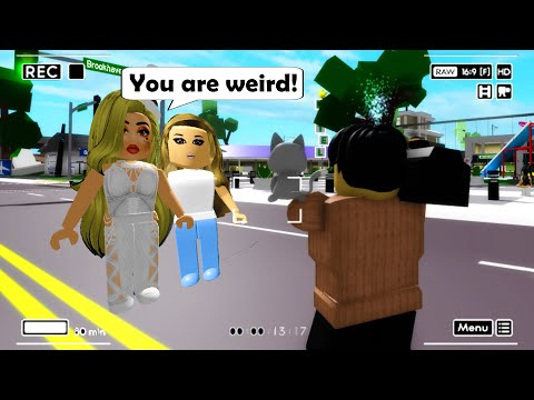 I decided to VLOG in Roblox BrookHaven
