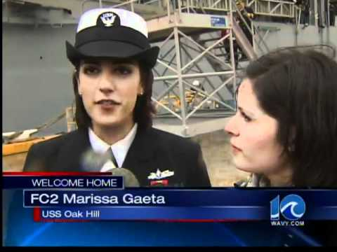 LGBT HISTORY MADE - 2 females share first kiss upon ship's return