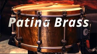 14x7 Patina Brass Snare drum by VK drums (sound examples)