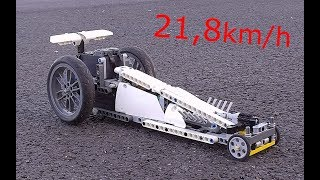 [MOC] Lego Technic Top Fuel Dragster Very Fast - 21,8kmh - With BuWizz - Présentation