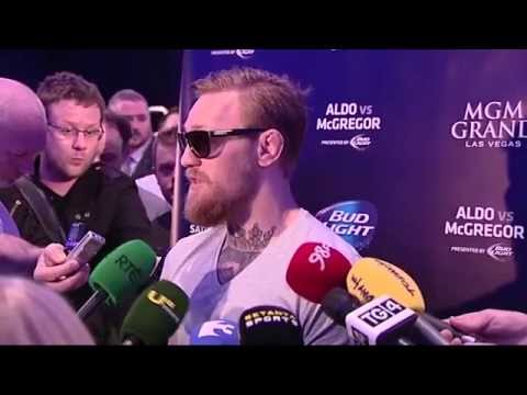 UFC 189 Tour Dublin: Conor McGregor Full Media Scrum