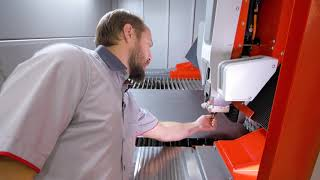 Bystronic Laser Cutting System features: Automatic Nozzle Changer (English)