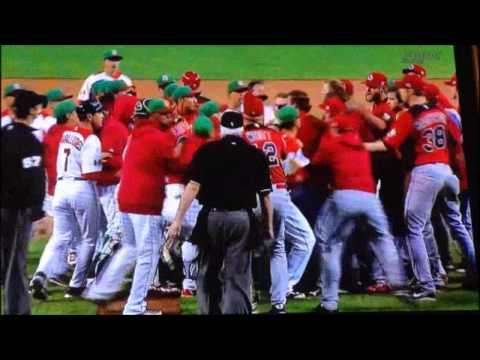COMPLETE World Baseball Classic Brawl - CANADA VS MEXICO March 9 2013