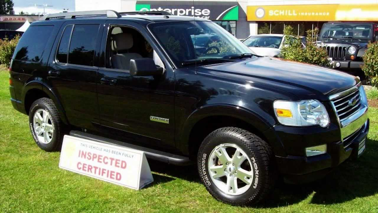 2008 ford explorer xlt v6 7 passenger inspected certified warrant suv youtube