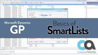 Basics of Dynamics GP SmartLists