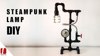 DIY Industrial Black Pipe Lamp With Touch Switch