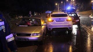 Lublin. Bmw staranowało trzy auta. Kierowca wyprzedzał na zakręcie