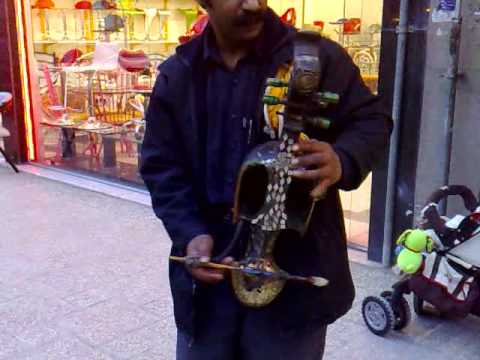 A street musician (from Zabol) in Mashhad