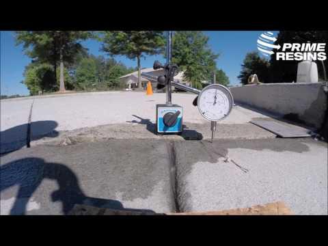 Lifting a concrete driveway slab