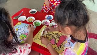 trò chơi tô tranh cát lâu đài và công chúa   phương khỉ TV   sand picture castle and princess