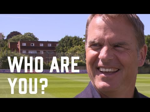 Who are you? Frank de Boer, Crystal Palace Manager