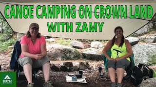 Two Women Backcountry Camṗing on Crown Land - Canoe Camping with Zamy