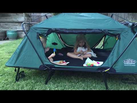 127 & Kamp-Rite® Double Tent Cot - YouTube