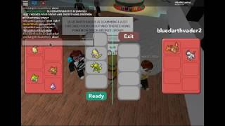 Roblox Pokemon Brick Bronze - Trolling Scammer in PBB!! (Troll)