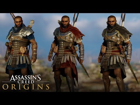 Assassin's Creed Origins - All Roman Soldier Outfit (How to Unlock) Hood/No Hood