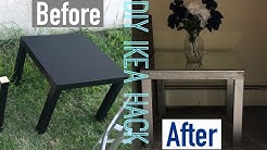 DIY - MIRRORED END TABLE (IKEA HACK)