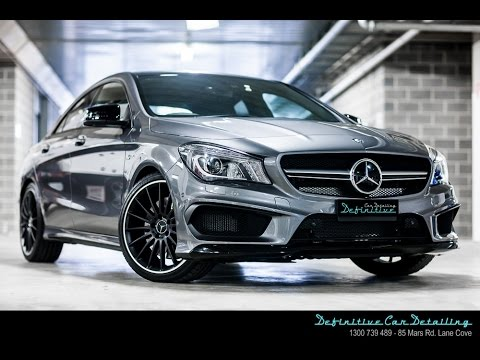 Custom Mercedes CLA45 AMG Opti Coat Spray Gun New Car Paint Protection Package