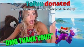Donating The Season 6 MAX BATTLE PASS To Small Fortnite Streamers..