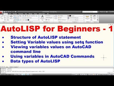 AutoLISP Programming Tutorial for Beginners - 1 (Part 1 of 2