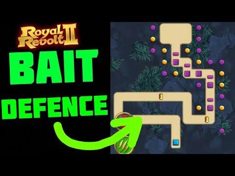 ROYAL REVOLT 2 - BAIT DEFENCE (new Defense Design Tutorial)