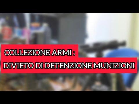 Collezione armi: divieto di detenzione munizioni per le armi in collezione