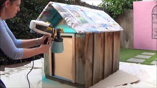 Wagner Paint Sprayer- How To Spray Paint A Dog Kennel